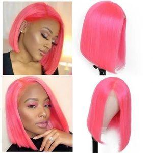 "8"" Pink Bob Wig"